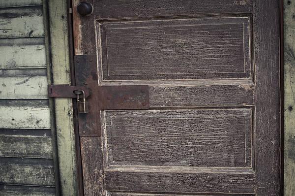 Leather Door Art Print