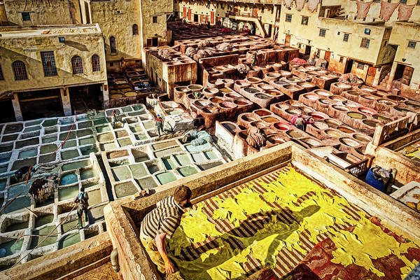 Photograph - Leather Tannery - Morocco by Stuart Litoff
