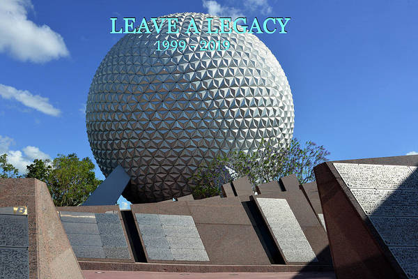 Wall Art - Photograph - Leave A Legacy Epcot by David Lee Thompson