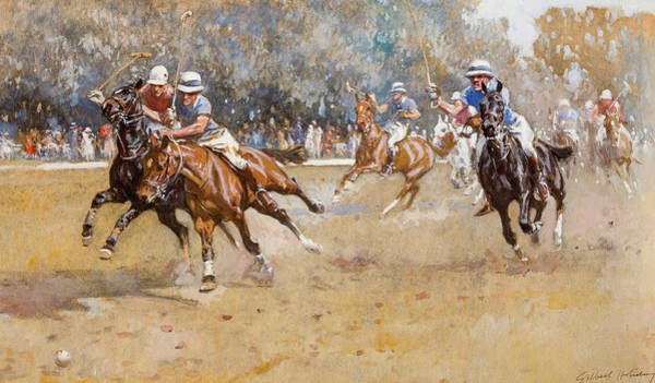 Wall Art - Painting - Leave It, Polo by Gilbert Joseph Holiday