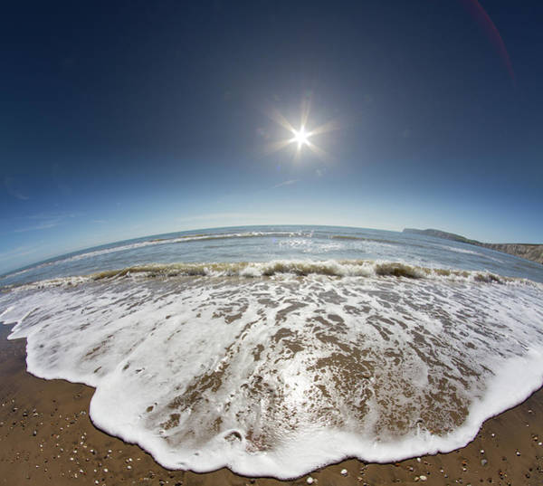 Fish Eye Lens Photograph - Leave Nothing But Footprints by S0ulsurfing - Jason Swain