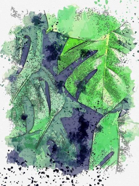 Wall Art - Painting - Leaves, C 2019 Watercolor, By Adam Asar by Adam Asar