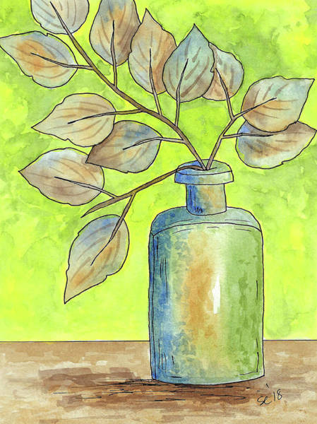 Painting - Leaves In A Bottle by Susan Campbell