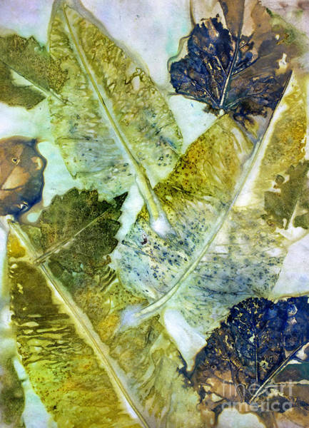 Mixed Media - Leaves Of Nature Eco Dyed Print by Em Witherspoon