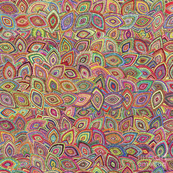 Wallpaper Mixed Media - Leaves Pattern Vii by Asad Ponir