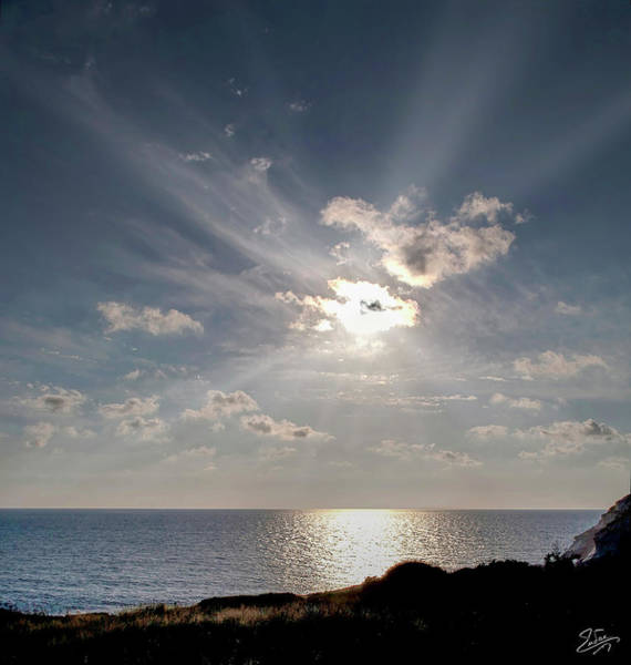 Photograph - Lebanon Border Sunset by Endre Balogh