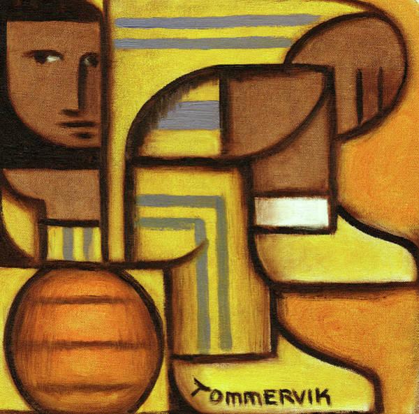 Wall Art - Painting - Geometric Lebron James Wall Art Print  by Tommervik