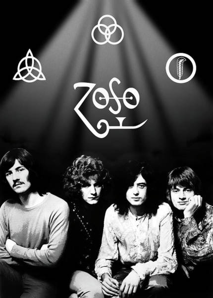 Wall Art - Digital Art - Led Zeppelin Band Tribute by Daniel Hagerman