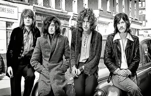 Stairway To Heaven Wall Art - Digital Art - Led Zeppelin by Daniel Hagerman