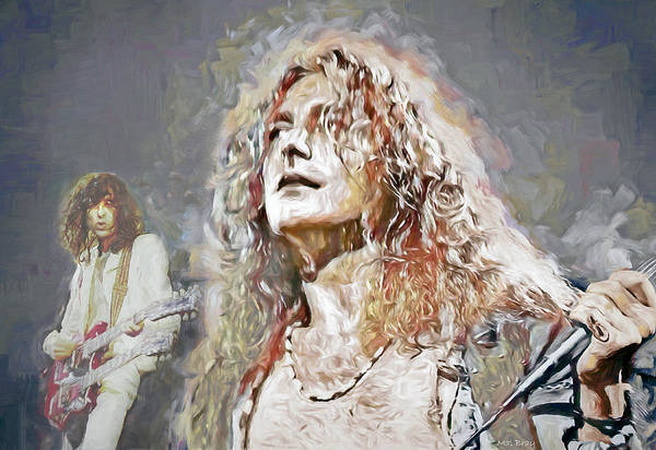 Page Mixed Media - Led Zeppelin by Mal Bray