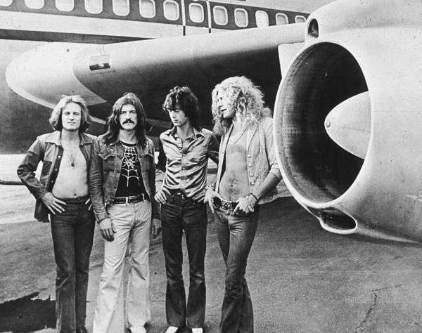 Horizontal Photograph - Led Zeppelin With Jet by Hulton Archive