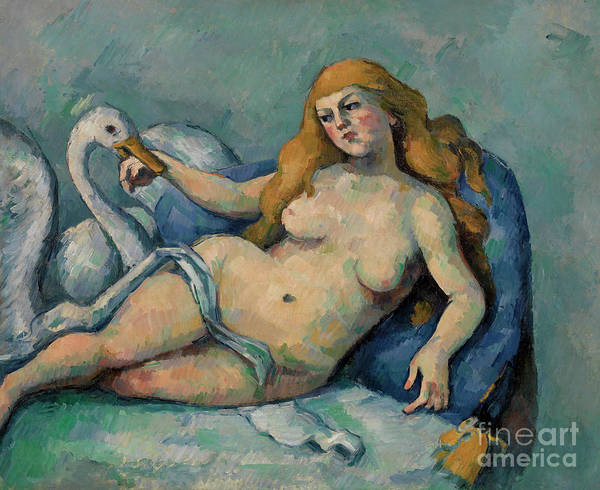 Wall Art - Painting - Leda And The Swan, Circa 1880 by Paul Cezanne