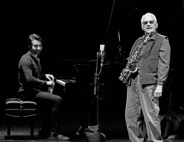 Photograph - Lee Konitz And Dan Tepfer 2 by Lee Santa