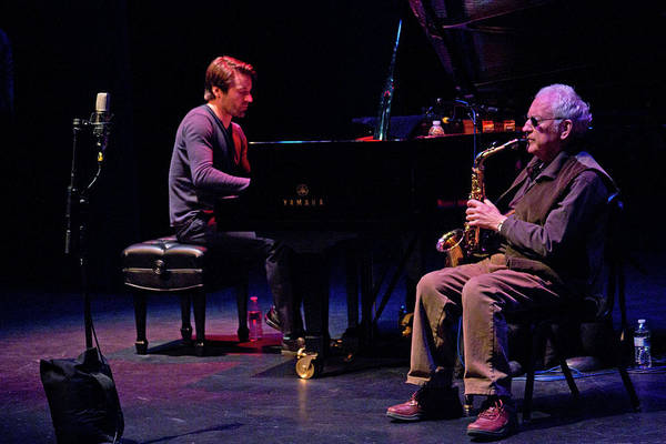 Photograph - Lee Konitz And Dan Tepfer 3 by Lee Santa