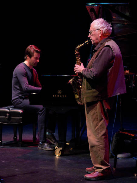 Photograph - Lee Konitz And Dan Tepfer 6 by Lee Santa