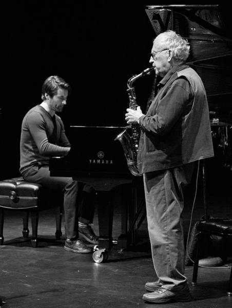 Photograph - Lee Konitz And Dan Tepfer 7 by Lee Santa