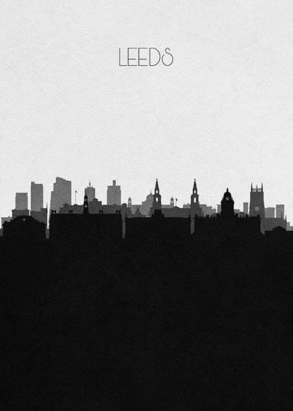 Wall Art - Digital Art - Leeds Cityscape Art by Inspirowl Design