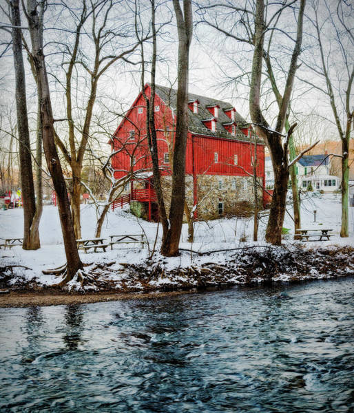 Kingsville Photograph - Lee's Merchant Mill With Snow by Brian Wallace
