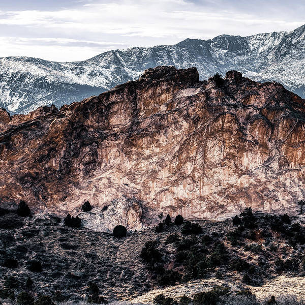 Wall Art - Photograph - Left Panel 1 Of 3 - Pikes Peak Panoramic Mountain Landscape With Garden Of The Gods by Gregory Ballos