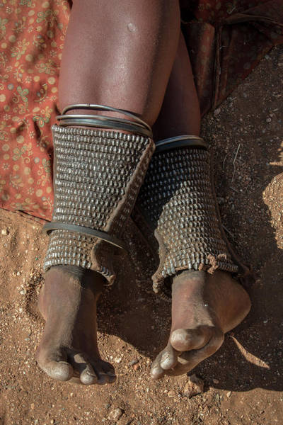 Wall Art - Photograph - Leg Ornamentation And At The Same Time Protection Against Snake Bites In The People Of Ovahimba Or by imageBROKER - Matthias Graben