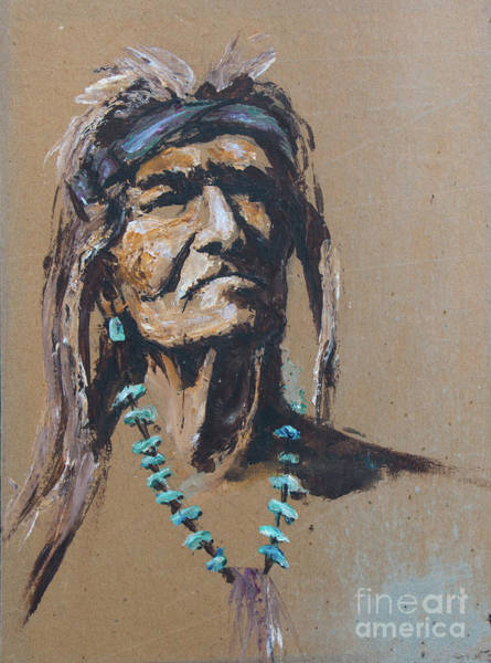 Painting - Legend Of The Medicine Man  by Rob Corsetti