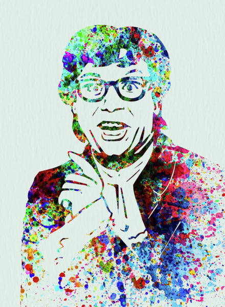 Wall Art - Mixed Media - Legendary Austin Powers Watercolor by Naxart Studio