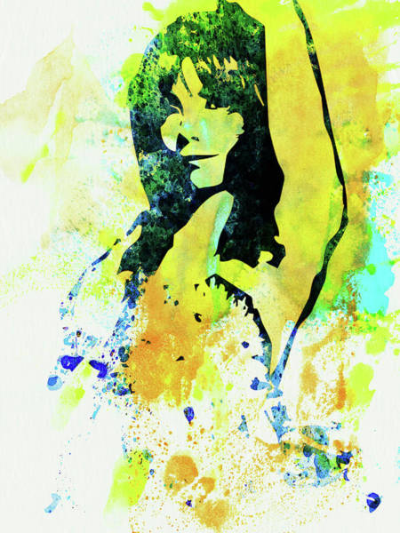 Wall Art - Mixed Media - Legendary Bjork Watercolor I by Naxart Studio