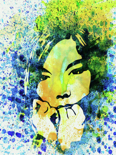 Wall Art - Mixed Media - Legendary Bjork Watercolor II by Naxart Studio