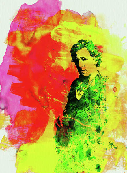 Wall Art - Mixed Media - Legendary Bruce Watercolor by Naxart Studio