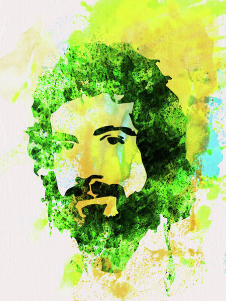 Wall Art - Mixed Media - Legendary Cat Stevens Watercolor by Naxart Studio