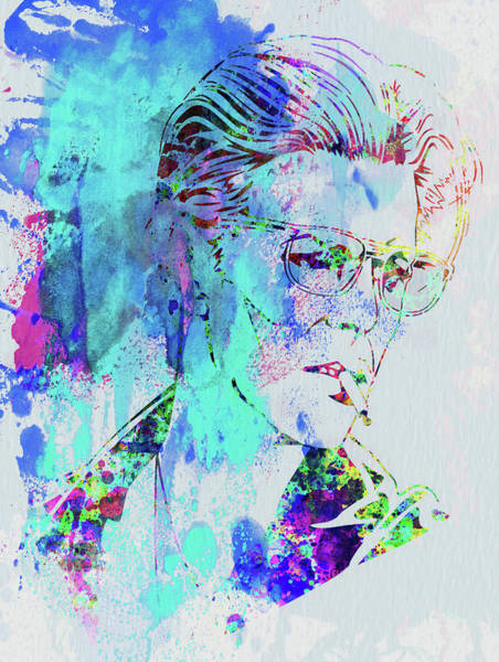 Wall Art - Mixed Media - Legendary David Bowie Watercolor by Naxart Studio