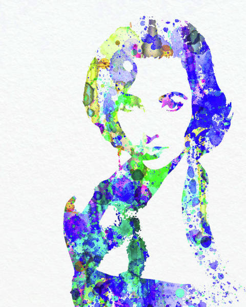Wall Art - Mixed Media - Legendary Elizabeth Taylor Watercolor by Naxart Studio