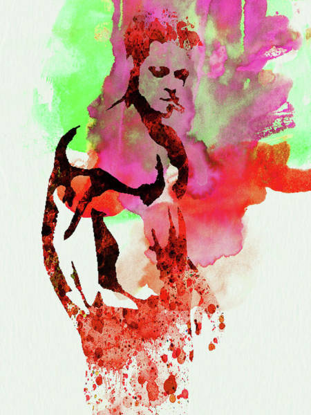 Wall Art - Mixed Media - Legendary Fight Club Watercolor by Naxart Studio