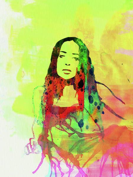 Wall Art - Mixed Media - Legendary Fiona Apple Watercolor by Naxart Studio