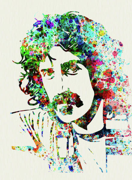 Wall Art - Mixed Media - Legendary Frank Zappa Watercolor by Naxart Studio