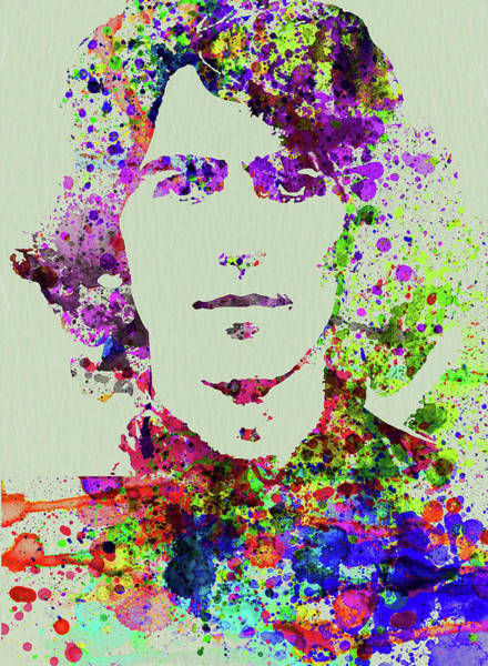 Wall Art - Mixed Media - Legendary George Harrison Watercolor II by Naxart Studio