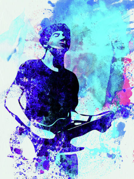 Wall Art - Mixed Media - Legendary Graham Coxon Watercolor by Naxart Studio