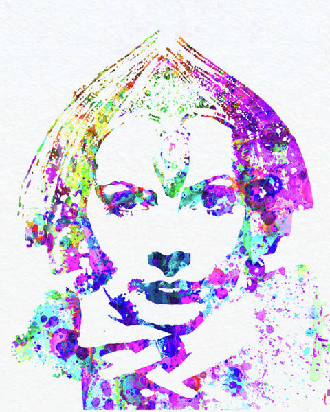 Wall Art - Mixed Media - Legendary Greta Garbo Watercolor by Naxart Studio