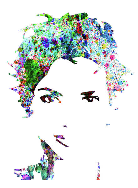 Wall Art - Mixed Media - Legendary Halle Berry Watercolor by Naxart Studio