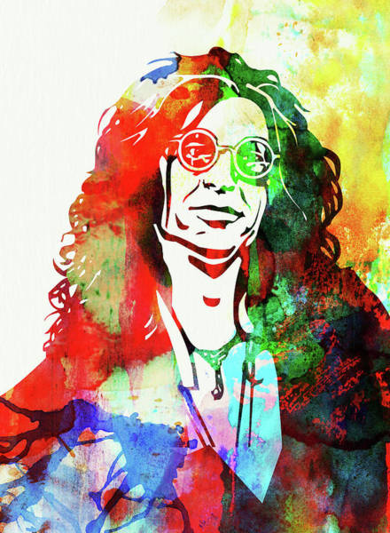 Wall Art - Mixed Media - Legendary Howard Stern Watercolor I by Naxart Studio