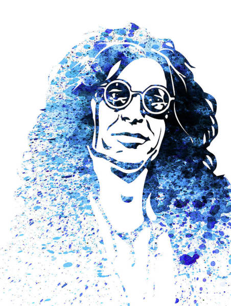 Wall Art - Mixed Media - Legendary Howard Stern Watercolor by Naxart Studio
