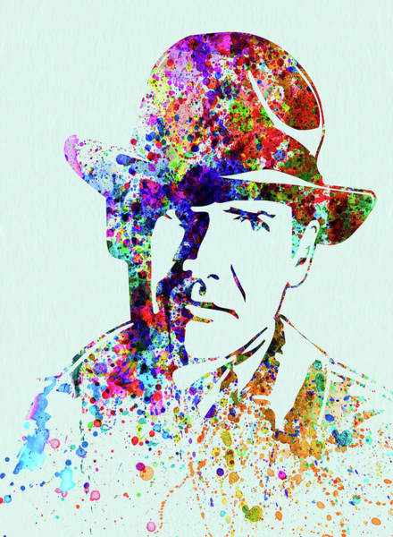 Wall Art - Mixed Media - Legendary Indiana Jones Watercolor by Naxart Studio