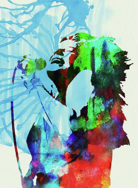 Wall Art - Mixed Media - Legendary Janis Joplin Watercolor by Naxart Studio