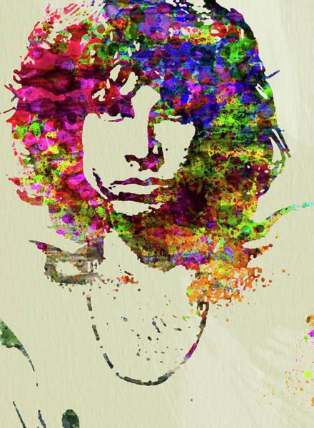 Wall Art - Mixed Media - Legendary Jim Morrison Watercolor by Naxart Studio