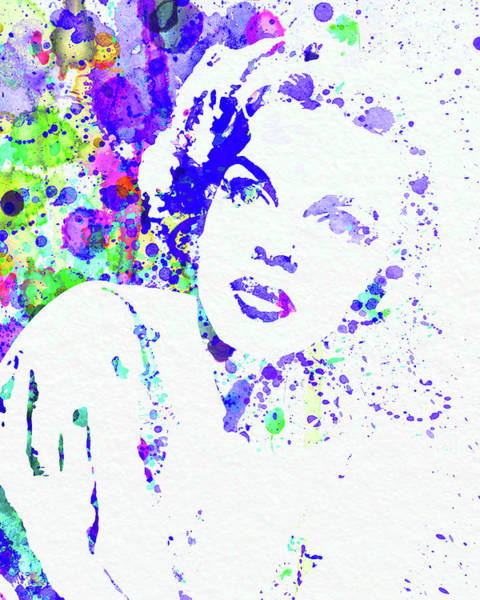 Wall Art - Mixed Media - Legendary Judy Garland Watercolor I by Naxart Studio