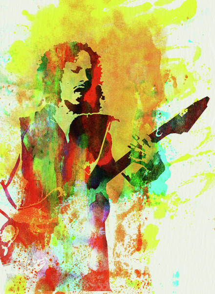 Wall Art - Mixed Media - Legendary Kirk Hammett Watercolor by Naxart Studio