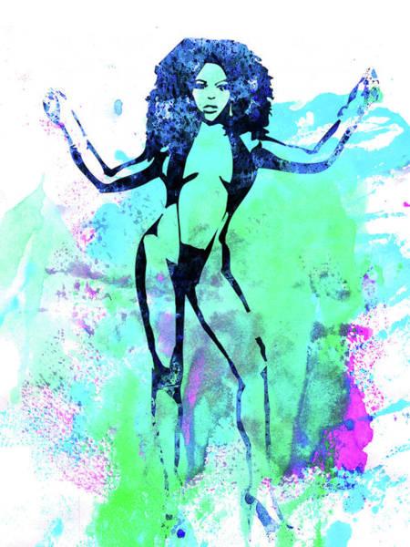 Wall Art - Mixed Media - Legendary Lil Kim Watercolor by Naxart Studio