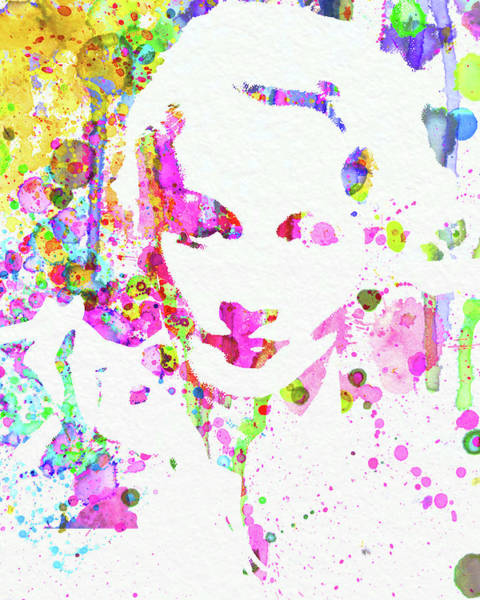 Wall Art - Mixed Media - Legendary Marlene Dietrich Watercolor II by Naxart Studio