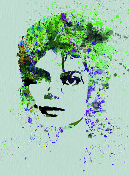 Wall Art - Mixed Media - Legendary Michael Watercolor II by Naxart Studio
