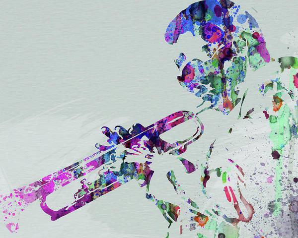 Wall Art - Mixed Media - Legendary Miles Davis Watercolor by Naxart Studio